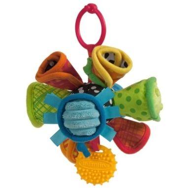 Infantino Chrastítko plyšové barevné kornoutky