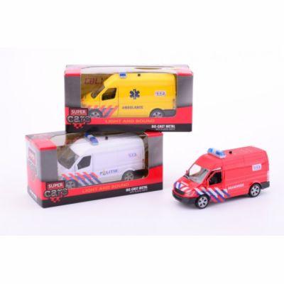 Johntoys Policie, hasiči, sanitka se světlem a zvukem cena od 119 Kč