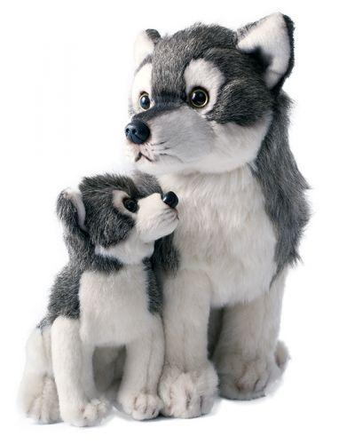 Rappa plyšový vlk s mládětem sedící 27 cm cena od 0 Kč