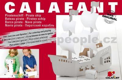 Calafant Kartonový model Pirátská loď velká