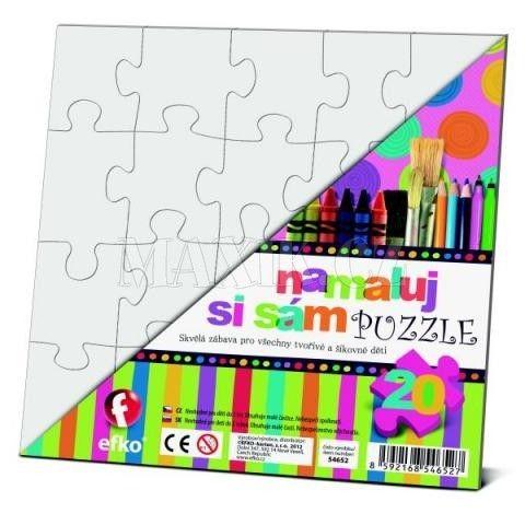 Efko Namaluj si sám puzzle čtverec cena od 21 Kč