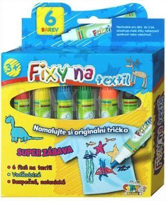 Creatoys Fixy na textil vodě odolné 6 ks