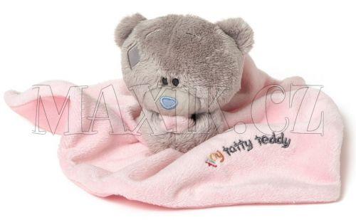 Me to you Tiny Tatty Teddy Růžová dečka s medvídkem