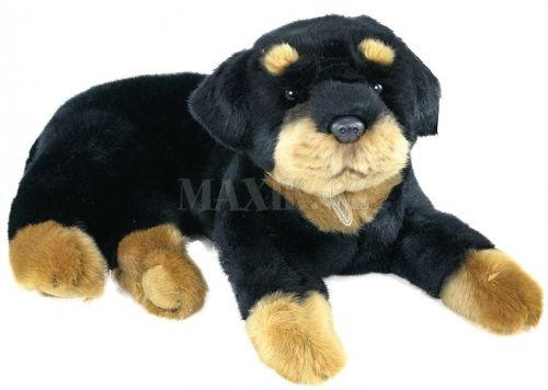Rappa plyšový pes rotvajler 45 cm cena od 0 Kč