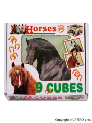DOHANY Skládací obrázkové kostky Horses cena od 0 Kč