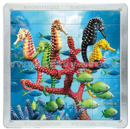 Piatnik: 64 d. 3D Magnetické puzzle Mořští koníci