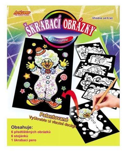 Creatoys Škrabací obrázky překvapení 6 ks cena od 0 Kč