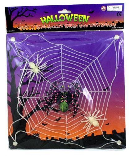 Rappa pavučina plastová s pavouky svítící cena od 39 Kč