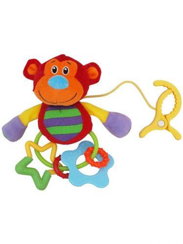 BABY MIX Plyšová hračka s chrastítkem opička cena od 0 Kč