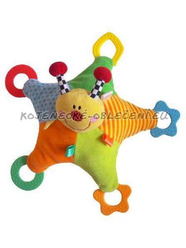 BABY MIX hračka s chrastítkem a kousátky Baby Mix