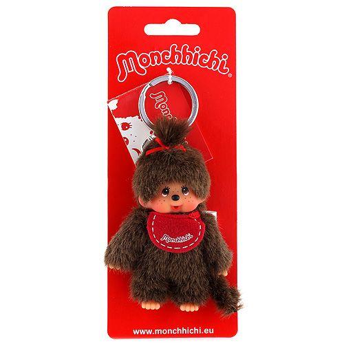 Monchhichi holka červený bryndák cena od 0 Kč