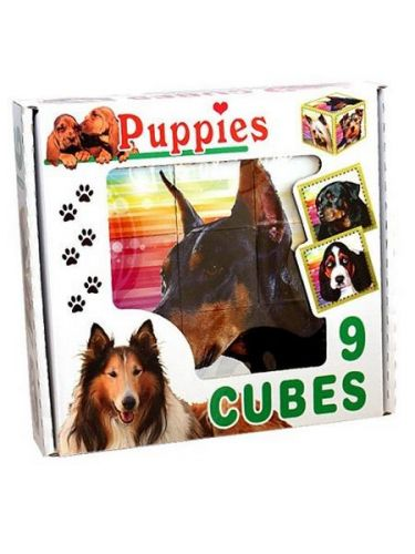 DOHANY Skládací obrázkové kostky Puppies cena od 0 Kč