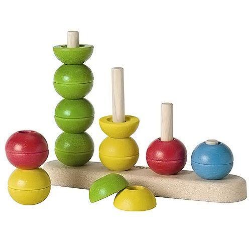 Plan Toys Navlékací stavěcí věže cena od 469 Kč