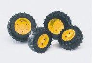 Bruder Dvojitá kola žlutá pro traktory řady 3 cena od 161 Kč
