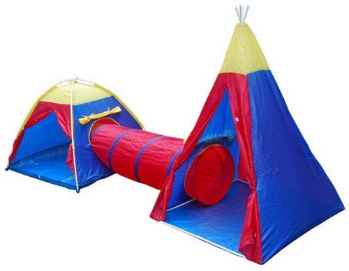 ACRA Dětský stanový set se spojovacím tunelem