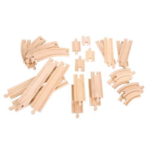Bigjigs Koleje dřevěná vláčkodráha  Set 24 dílů cena od 395 Kč