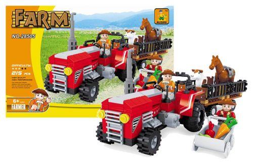 Rappa farma traktor velký 215 dílů