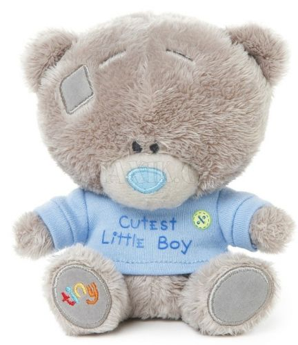 XXL obrazek Me to you Tiny Tatty Teddy Medvídek v modrém tričku 11,5 cm