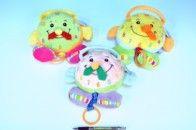 Mikro hračky Hodiny hrací strojek plyš 18 cm cena od 146 Kč