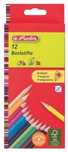 Herlitz Pastelky trojhranné 12 barev