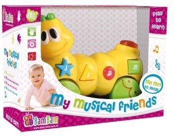 Bam Bam Hudební hračka housenka cena od 189 Kč
