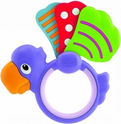 Chicco Chrastítko papoušek křídlo cena od 83 Kč