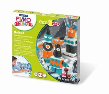 STAEDTLER FIMO kids sada Roboti cena od 199 Kč