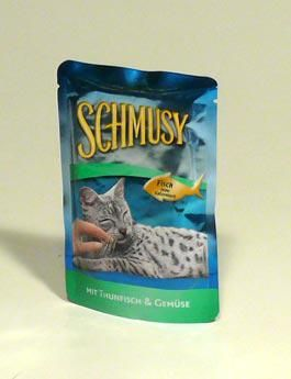 Finnern Schmusy Cat kapsa Fish tuňák v želé 100 g