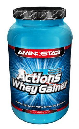 Aminostar Whey Gainer Actions Jahoda 1000 g