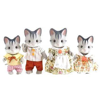 Sylvanian Families Rodina šedých koček cena od 0 Kč