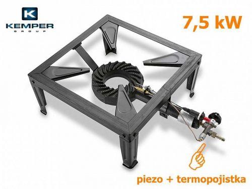 Kemper Plynový vařič průmyslový s piezo a termopojistkou 7,5 kW