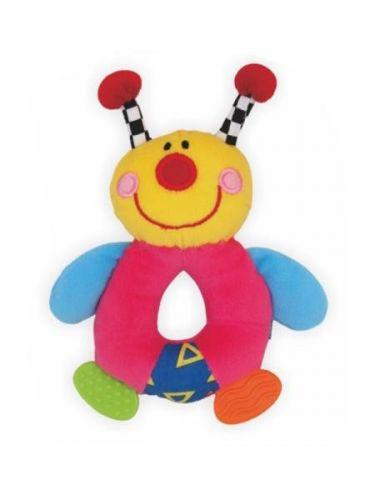 Baby Mix Plyšová hračka s chrastítkem brouček cena od 0 Kč