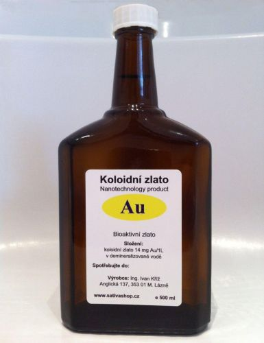 Koloidní zlato skleněná lékovka 500 ml cena od 1470 Kč