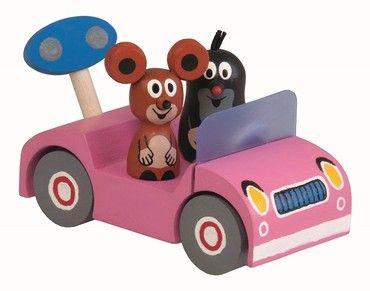 Detoa Krtek na výletě červené nebo růžové auto