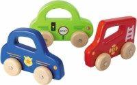 Johntoys Dřevěná autíčka s úchytem cena od 155 Kč
