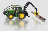 SIKU Farmer Lesnický traktor John Deere s nakládací lžící a kládami 1:32 cena od 1525 Kč