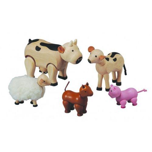 PlanToys Sada zvířátek k farmě 7135