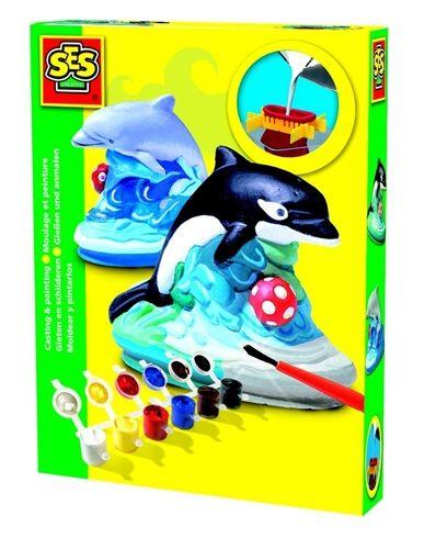 SES Sádrový komplet delfin 01274