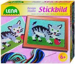 LENA Vyšívací obrázek kočka 42601 cena od 93 Kč