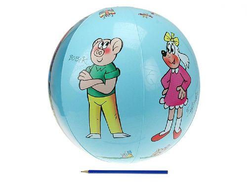 Teddies Nafukovací míč Čtyřlístek transparentní 50 cm cena od 32 Kč