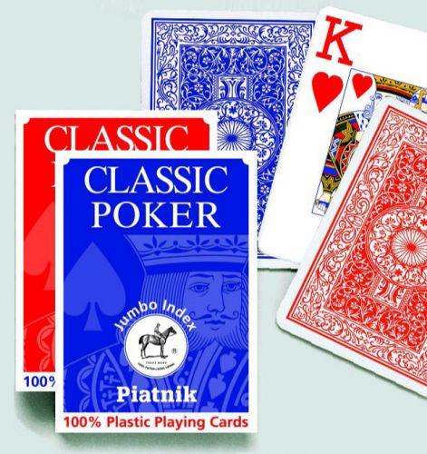 Piatnik Plastik Poker 100% Jumbo Index 1361