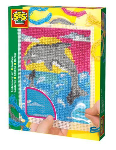SES Vyšívací dečky delfín 00866 cena od 214 Kč