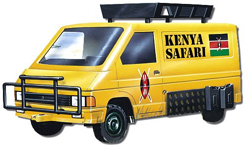 Vista Renault Trafic Kenya Safari
