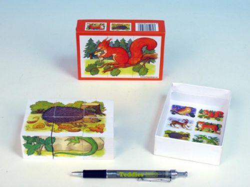 TOPA Kostky dřevěné Lesní zvířátka 38105 cena od 84 Kč