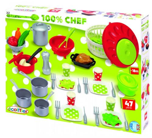Ecoiffier Velká sada nádobí a jídla E 2621 cena od 459 Kč