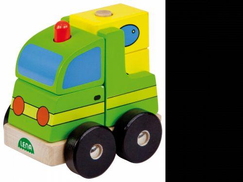 LENA Dřevěné puzzle pickup 43203 cena od 0 Kč