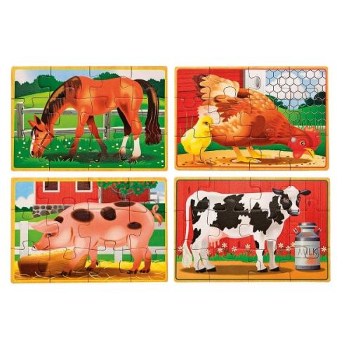 Melissa & Doug Puzzle 4 v 1 farma 62881 cena od 223 Kč