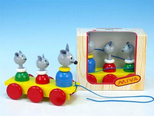 Miva Tři myšky tahací dřevo 335-1 cena od 0 Kč