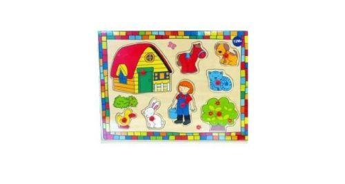 Mikro hračky Vkládačka farma dřevo 610573 cena od 88 Kč