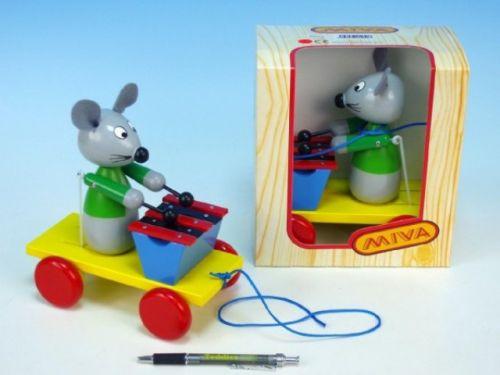 Miva Myš s xylofonem dřevo tahací 105-1 cena od 195 Kč